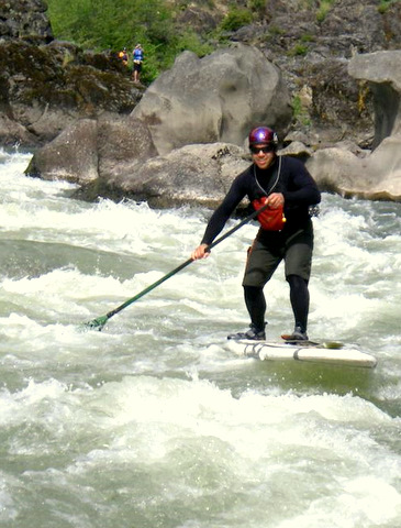 2010-Summer-Southern-Oregon-Rogue-River-Jayson-Bowerman-on-a-stand-up-paddle-board