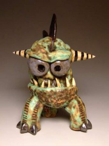 2010-Autumn-Oregon-Portland-Bank-Grouchm-clay-monster-by-James-DeRosso