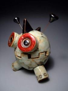 2010-Autumn-Oregon-Portland-robot-skeleton-clay-monster-by-James-DeRosso