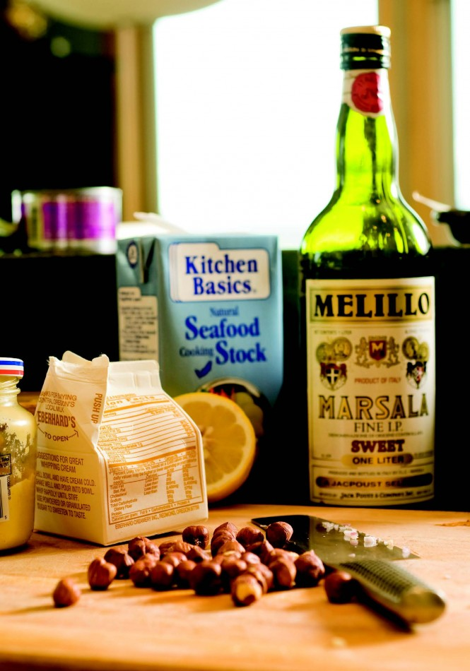 2009-Autumn-Oregon-Food-Home-Grown-Chef-assemble-ingredients-salmon-agnolotti-hazelnut-sauce-recipe