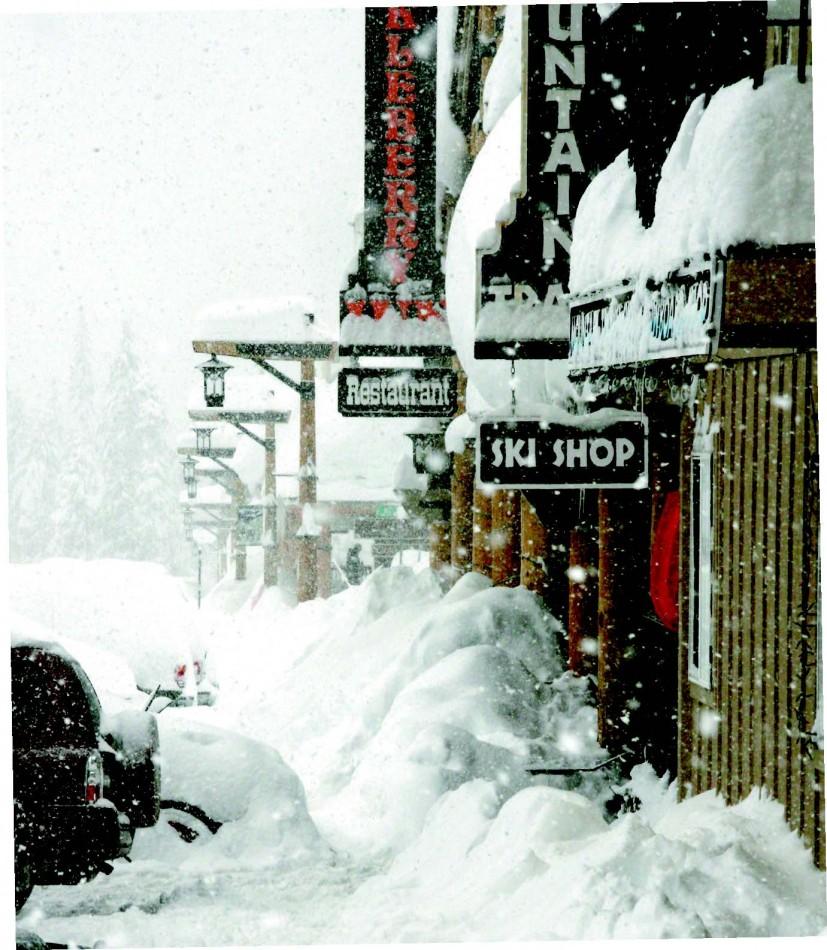 2010-Winter-Oregon-Travel-Mt-Hood-Government-Camp-main-street-winter-snow