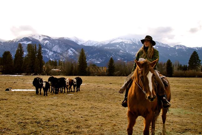 2011-Spring-Eastern-Oregon-Wallowas-McClaran-Ranch-Jill-McClaran-on-horseback