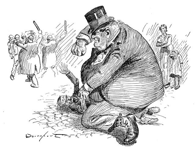 2012-Spring-Oregon-History-Cartoonist-Homer-Davenport-Arbitration-in-a-Strike-political-cartoon