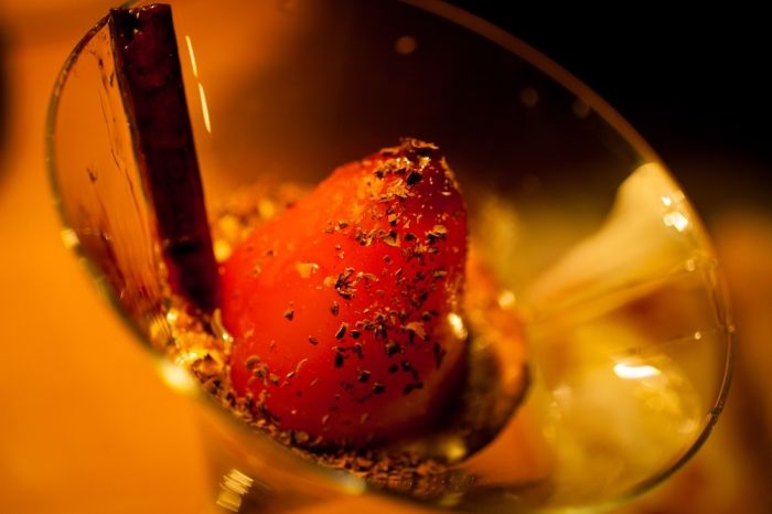 2012-november-october-1859-magazine-portland-oregon-1859-and-dine-special-occasion-Elenis-Philoxenia-Estiatorio-greek-restaurant-poached-pear-martini-glass