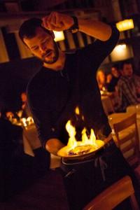 2012-november-october-1859-magazine-portland-oregon-1859-and-dine-special-occasion-Elenis-Philoxenia-Estiatorio-greek-restaurant-waiter-serving