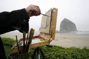 2012-Spring-Oregon-Coast-Travel-Cannon-Beach-Haystack-Rock-artist-art-ocean