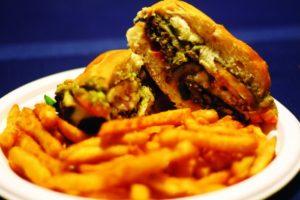 2012-Spring-Oregon-Restaurant-Reviews-Willamette-Valley-Eugene-Cornucopia-half-burger-and-fries