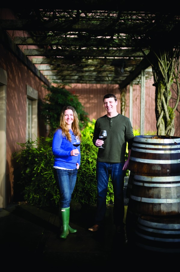 2012-Spring-Oregon-Wine-Willamette-Valley-Bethel-Heights-Mimi-and-Ben-Casteel-winery-taste-grapes