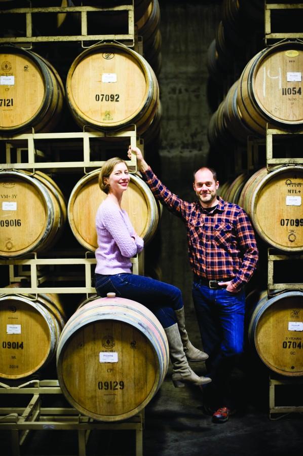 2012-Spring-Oregon-Wine-Willamette-Valley-Sokol-Blosser-Alison-and-Alex-winery-taste-grapes