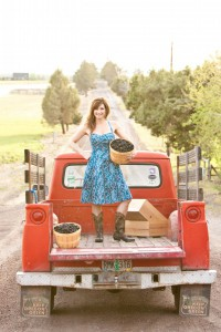 2012-summer-1859-central-oregon-bend-tumalo-cover-shoot-behind-the-scenes-truck-blackberries-carrie-cook-minns-bed-standing