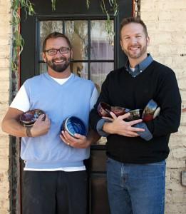2012-november-december-1859-central-oregon-bend-empty-bowls-pottery-fundraiser-chris-quaka-john-kinder-outside
