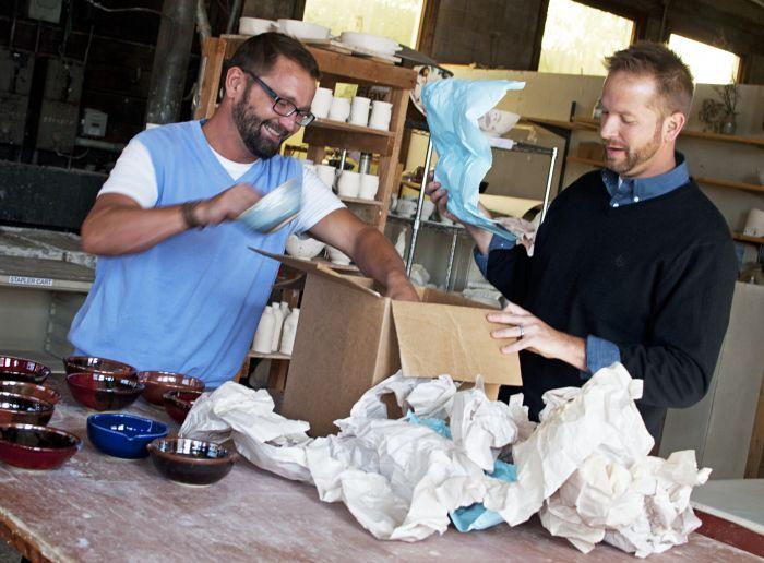 2012-november-december-1859-central-oregon-bend-empty-bowls-pottery-fundraiser-chris-quaka-john-kinder-unpacking