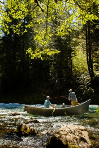2013-July-August-Oregon-Fish-Oregon-Rivers-Tyler-Roemer-Fly-Fishing-Side-View-of-Men-Fishing-From-Boat