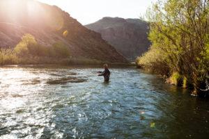 2013-July-August-Oregon-Fish-Oregon-Rivers-Tyler-Roemer-Fly-Fishing-Sun-Spot-Fishing-in-Water