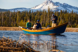 2013-July-August-Oregon-Fish-Oregon-Rivers-Tyler-Roemer-Fly-Fishing-Three-People-in-Boat-Mountain