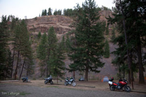 2013-July-August-Oregon-Travel-Explore-Eastern-Oregon-Tim-Labarge-Four-Parked-Motorcycles