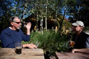 2013-July-August-Oregon-Travel-Explore-Eastern-Oregon-Tim-Labarge-Men-Drinking-Beers