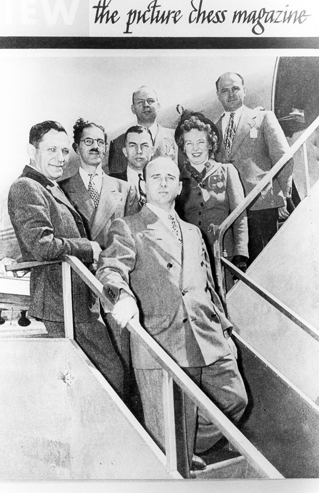 2013-january-february-1859-magazine-oregon-history-chess-grandmaster-arthur-dake-American-Team-1946-departing-plane