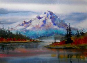 Mt-Hood-Autumn-in-Watercolor