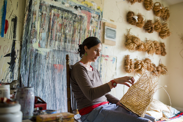 sara siestreem, weaving artist, portland art, pacific northwest, native american art