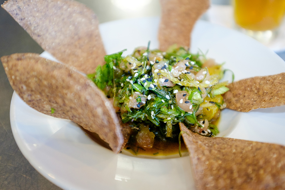 Local Ocean chef Laura Anderson offers this Albacore Tuna Poke with Seaweed Salad as an Oregon Coast favorite.