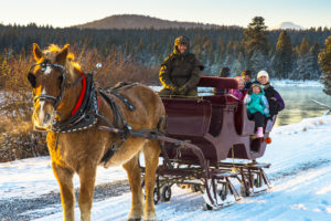 sleigh ride, sunriver stables