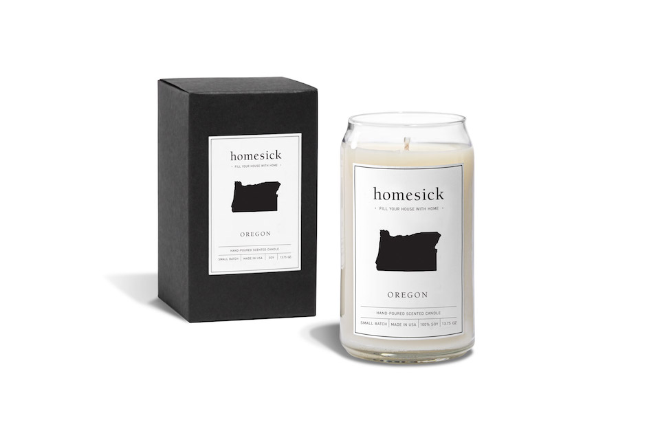 homesick candles, oregon