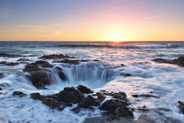 Thor's Well Sunset, Cape Perpetua, Oregon