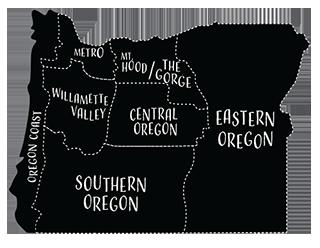 Oregon Trip Planner Map
