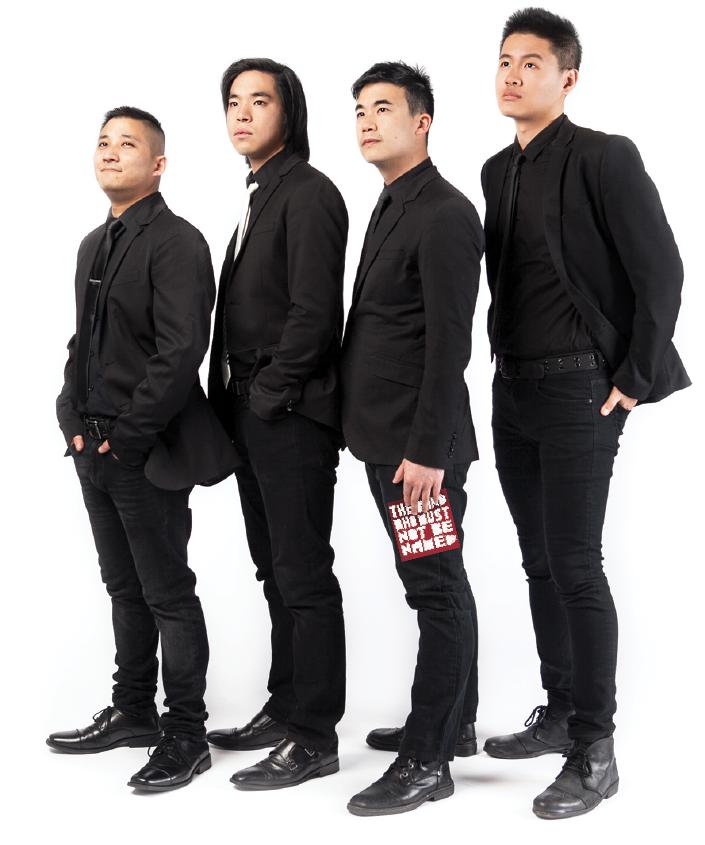 The Slants are made up of, from left, Yuya Matsuda, Ken Shima, Simon Tam and Joe X. Jiang.