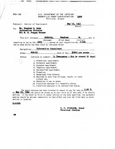 Woody Guthrie's Emergency Appointment as an Information Consultant at the BPA (courtesy of the BPA)