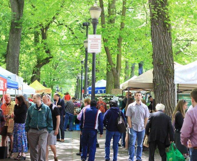 Portland Farmers Market at Shemanski Park