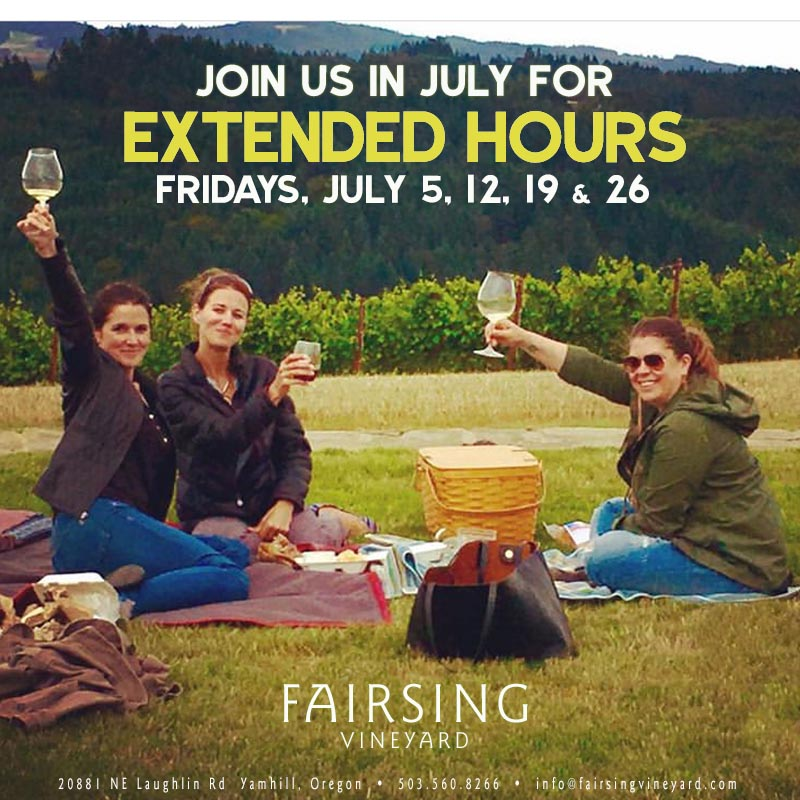 Extended Hours - Fridays in July