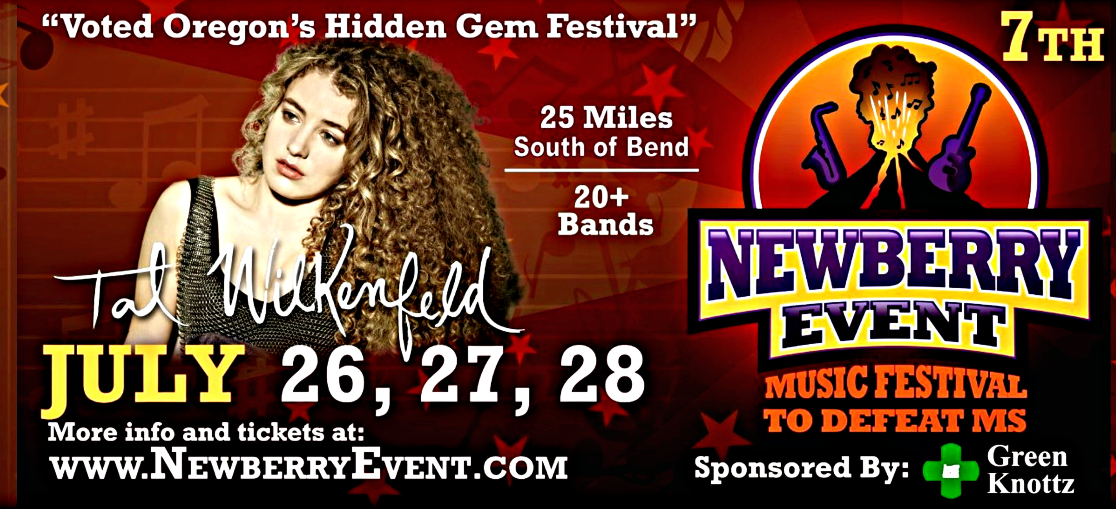 Central Oregon's 7th Annual Newberry Event Music and Arts Festival to Defeat MS