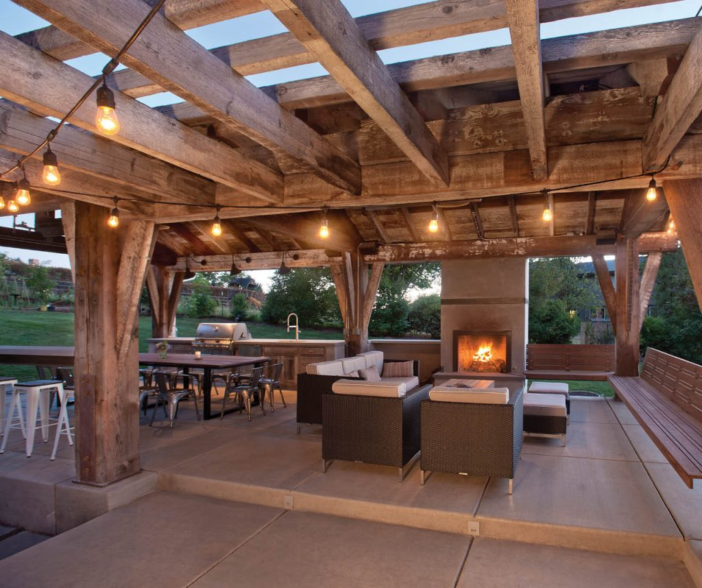 Pre Cut Timber Frame: A Timber-frame Outdoor Pavilion Draws A West Linn Family