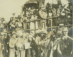 The Liberty Bell celebration in Cayuse in 1915.