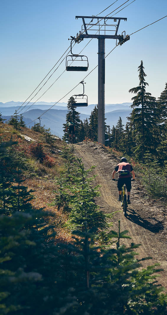 Mountain biking on Mt. Hood