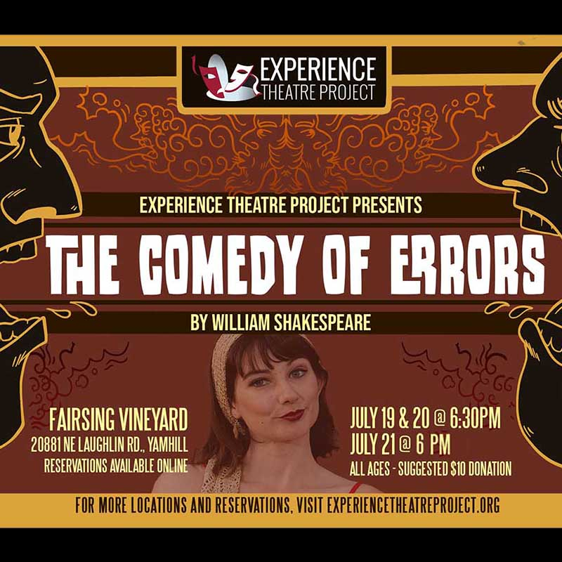 Shakespeare's THE COMEDY OF ERRORS - Live Performance at Fairsing