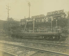 The Liberty Bell's custom made rail car in 1915.