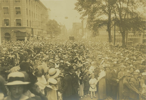 The Liberty Bell celebration in Portland in 1915.