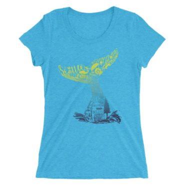 Washington Whale Tail Ladies' short sleeve t-shirt