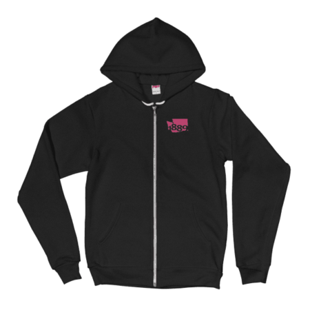 Washington Statehood 1889 Zip Hoodie (pink)