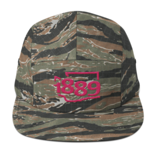 Washington Statehood 1889 Five-Panel Hat (pink)