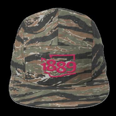 Washington Statehood 1889 Five-Panel Hat (pink)