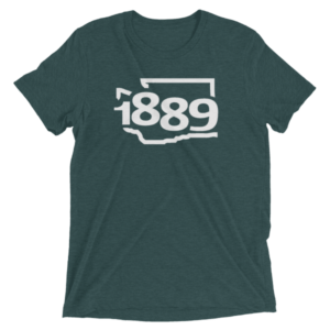 Washington Statehood 1889 Short-Sleeve T-Shirt (white)
