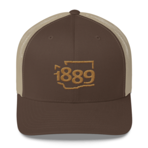 Washington Statehood 1889 Baseball Cap (gold)