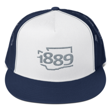 Washington Statehood 1889 Trucker Hat (gray)