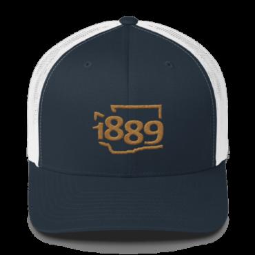 Washington Statehood 1889 Baseball Cap (gold)