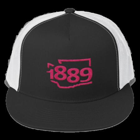 Washington Statehood 1889 Trucker Hat (pink)