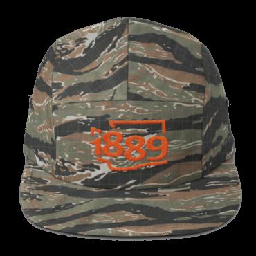 Washington Statehood 1889 Five-Panel Hat (orange)